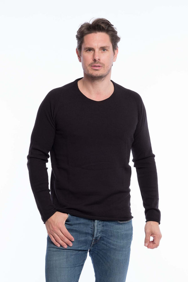 Thin Knit Organic Cotton | Deep black