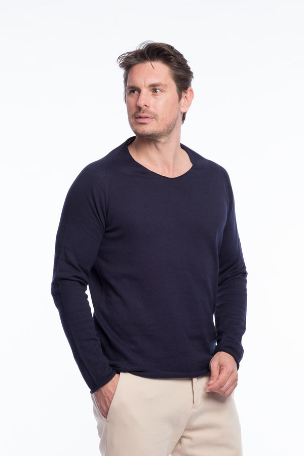 Thin Knit Organic Cotton | Night blue