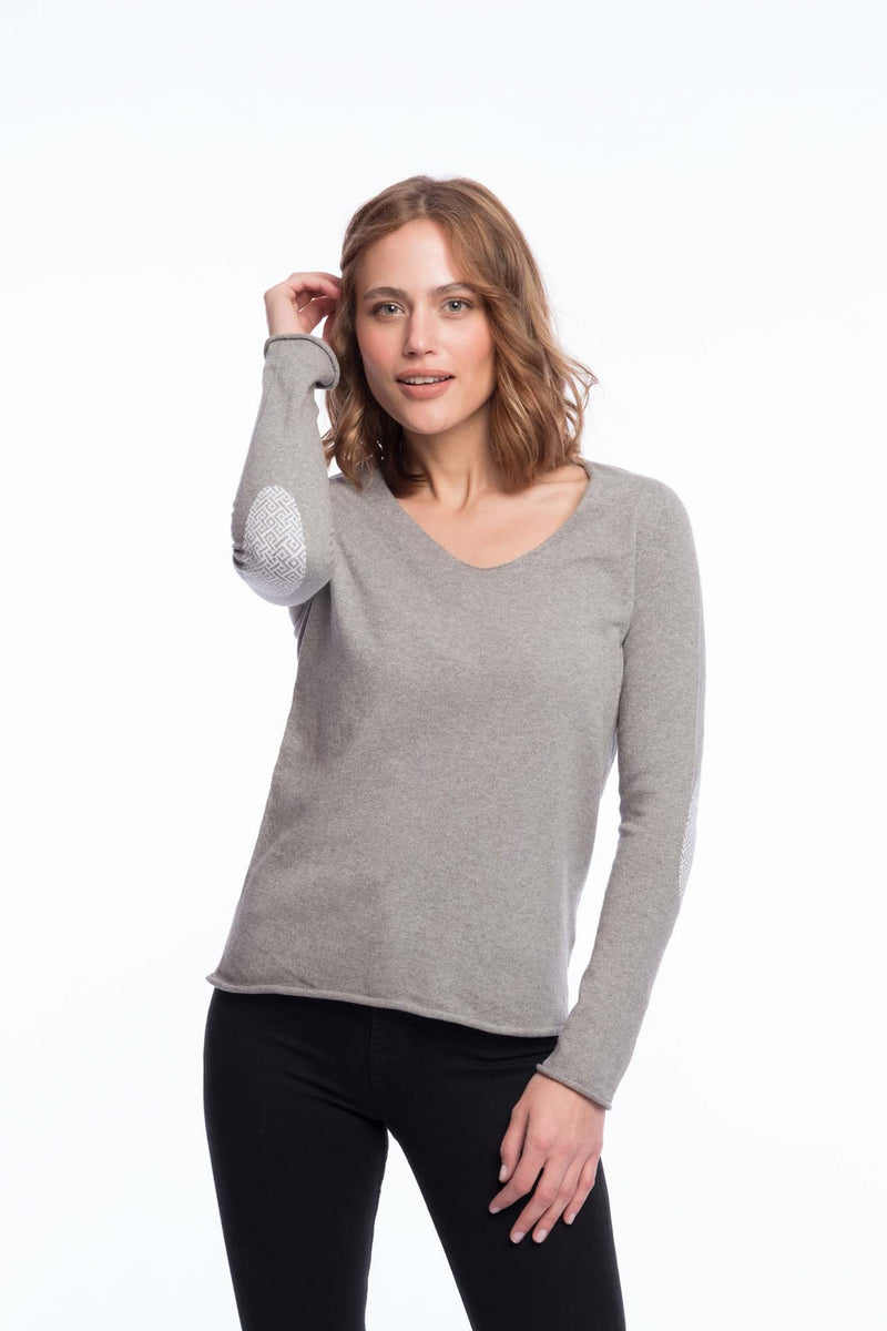 Seamless Organic Cotton Thin Knit | Light gray