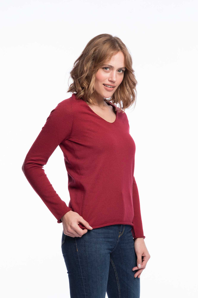 Seamless Bio Cotton Thin Knit | Rubyred