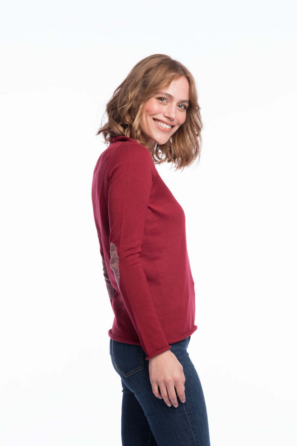 Seamless Organic Cotton Thin Knit | Rubyred