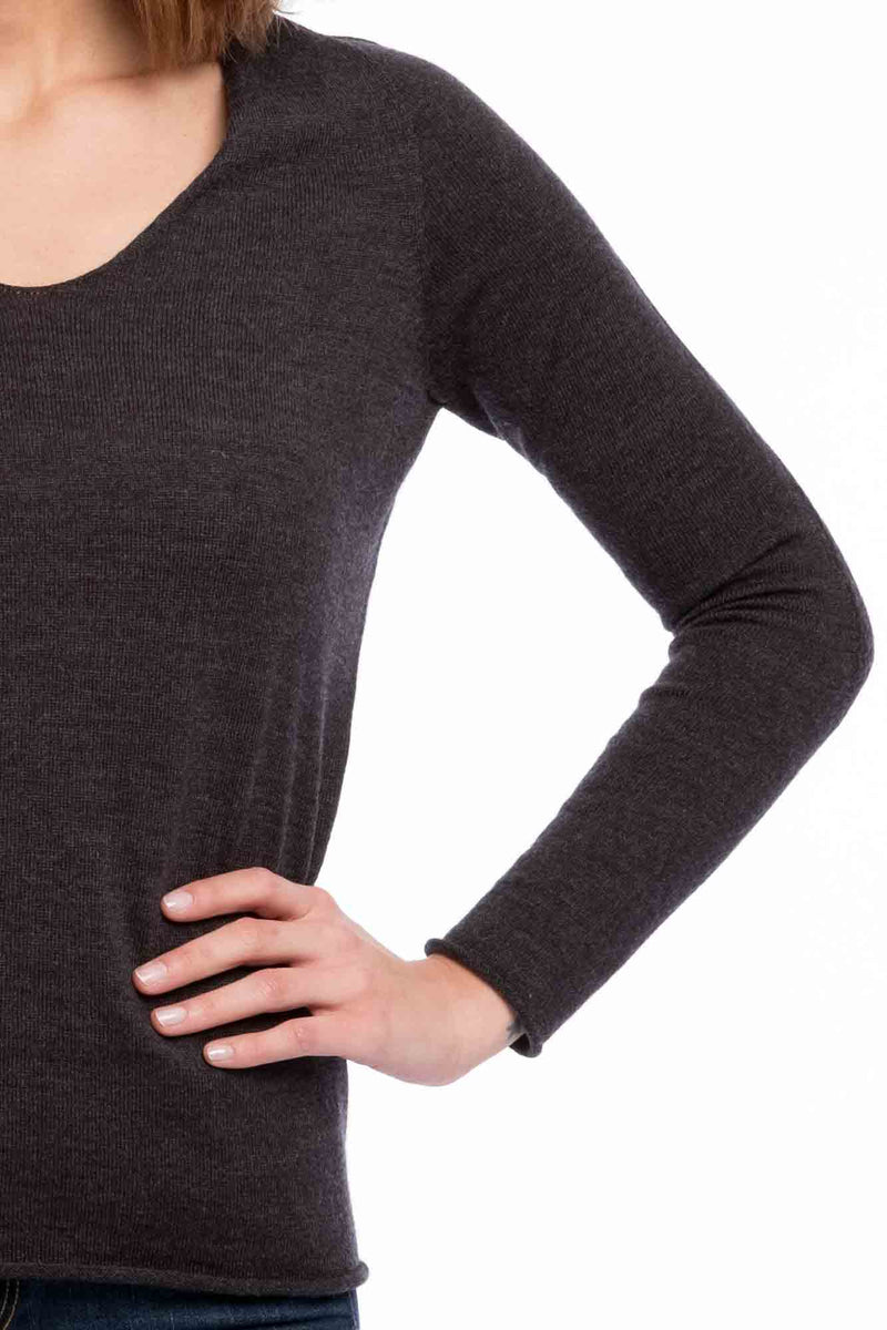 Seamless Bio Merino Thin Knit | Grey Melange