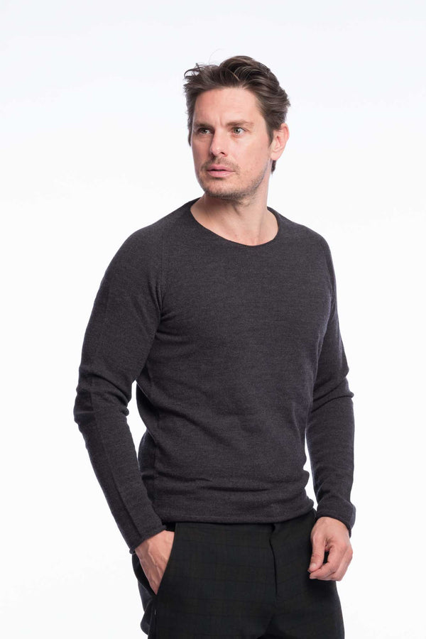 Thin Knit Bio Merino | Grey Melange