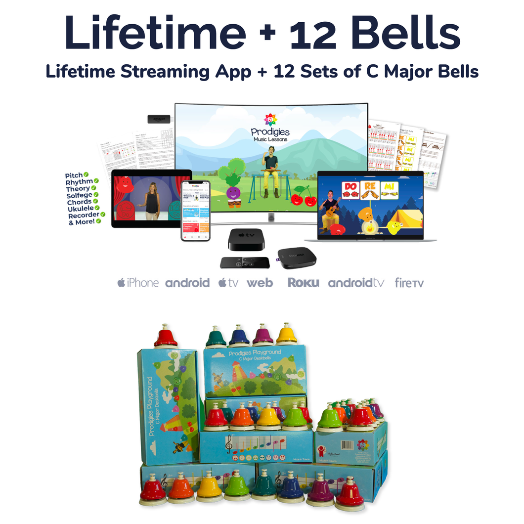 BACKORDER - SHIPS APRIL 30th: Lifetime + 12 C Major Deskbells
