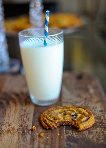 Salted Caramel Cookie and Milk