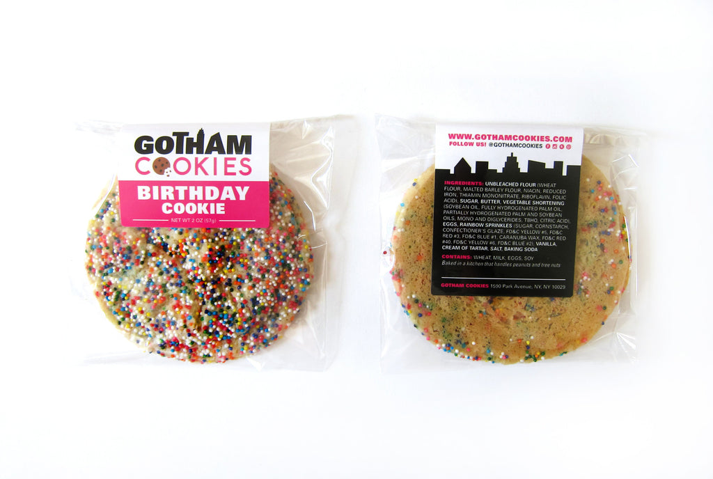 Birthday Cookie with Flavor Label