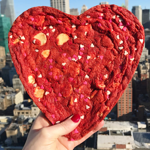 Red Velvet Heart Cookie Cake