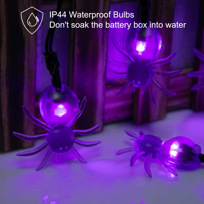 Halloween Spider String Lights - TD Lil Smiles