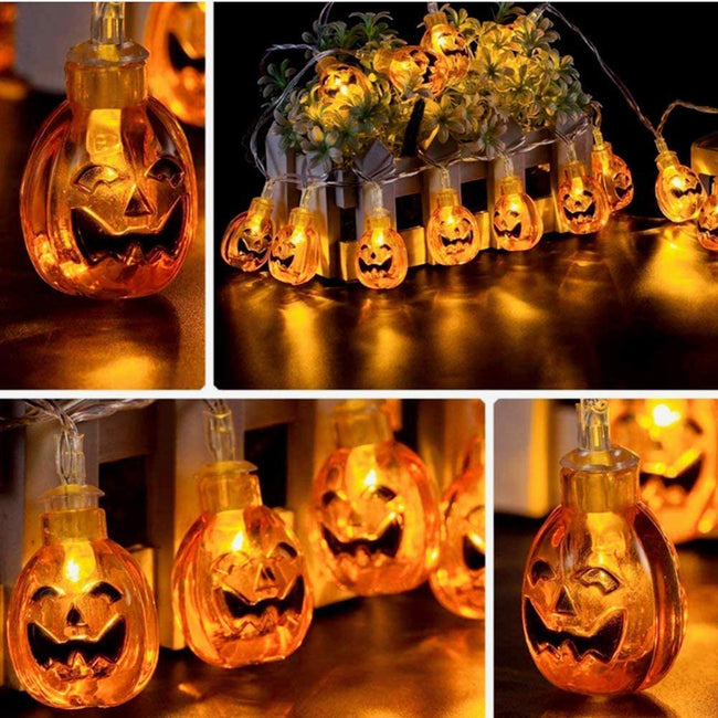 Halloween Decor Pumpkin String Lights - TD Lil Smiles