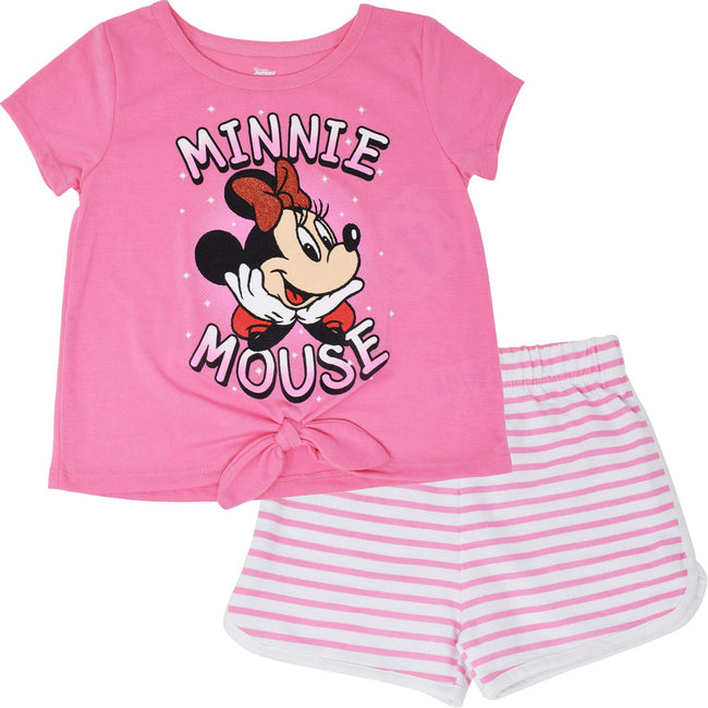 Disney Minnie Mouse Girls French Terry T-Shirt and Shorts Set SIZE 2T - TD Lil Smiles