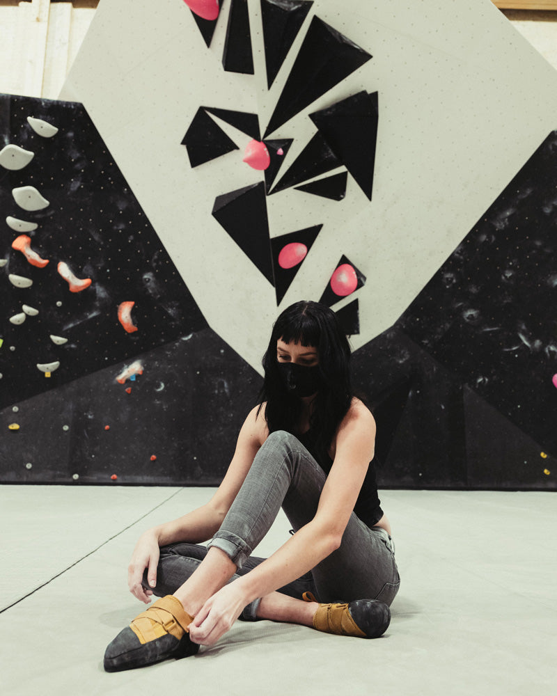 So iLL One Pro being tried on at a climbing gym