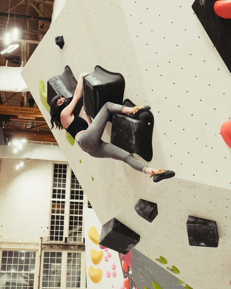 So iLL One Pro being climbed in at a climbing gym