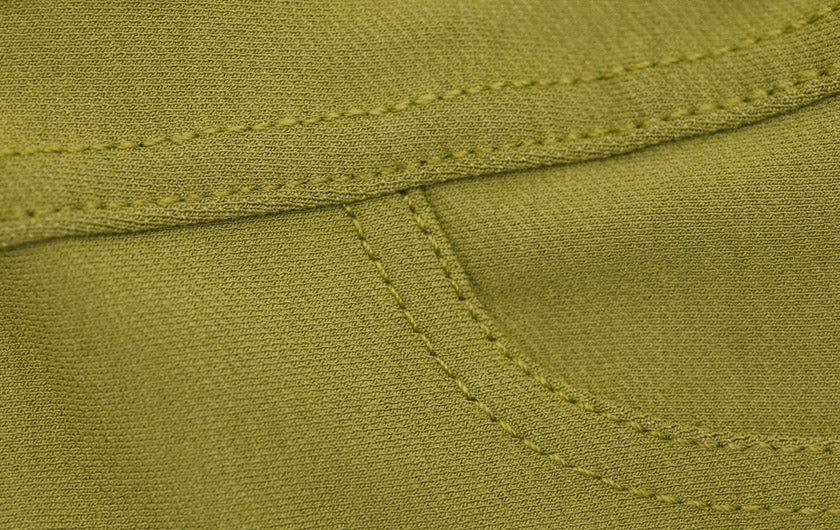 macro of Olive Colored So iLL Active Jeans