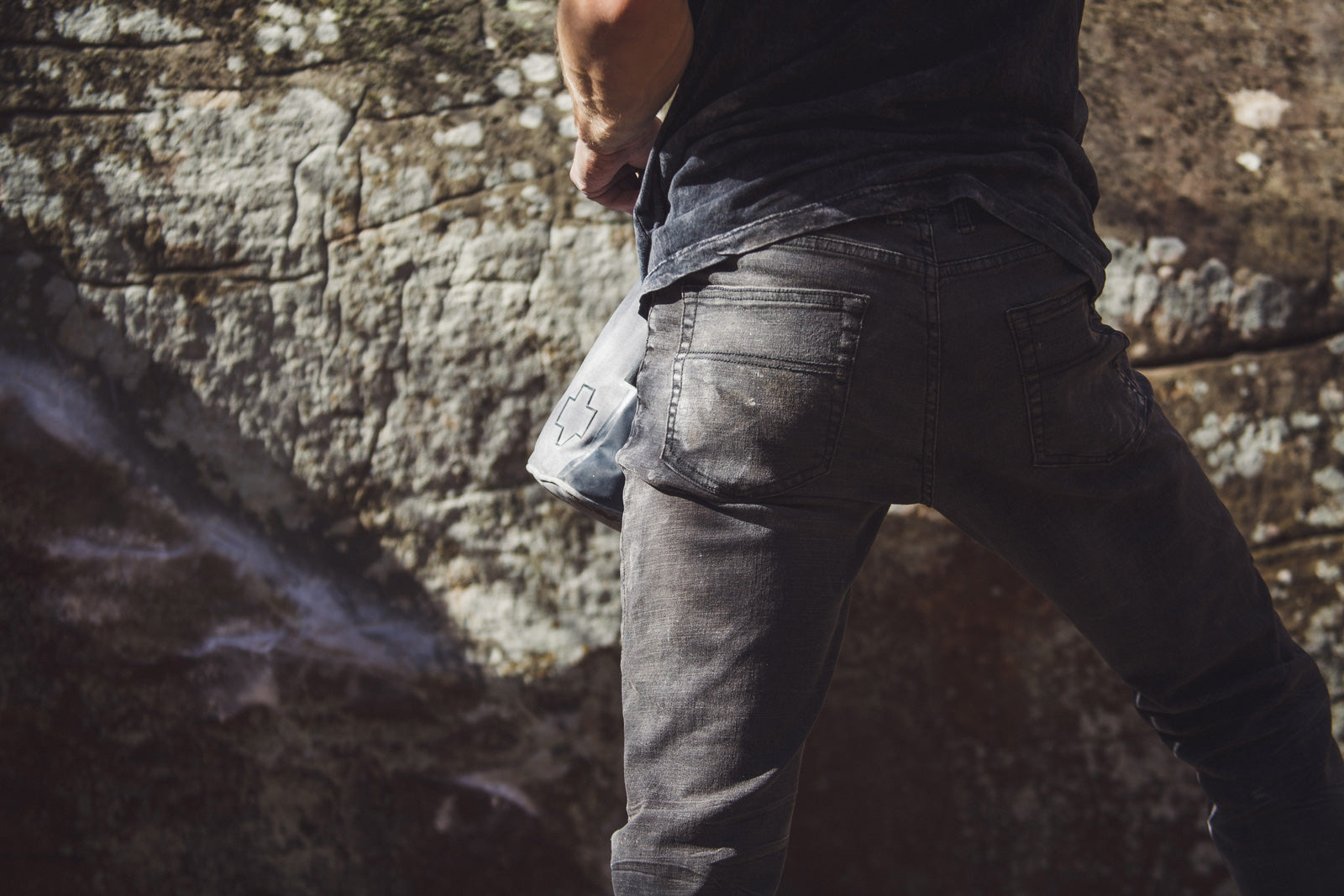 men's so ill climbing denim jeans tight shot of backside