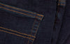 close up detail of so ill denim jeans pocket