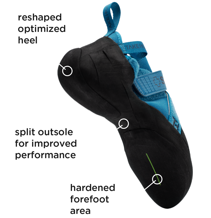 So iLL Free Range Pro Climbing Shoe bottom profile