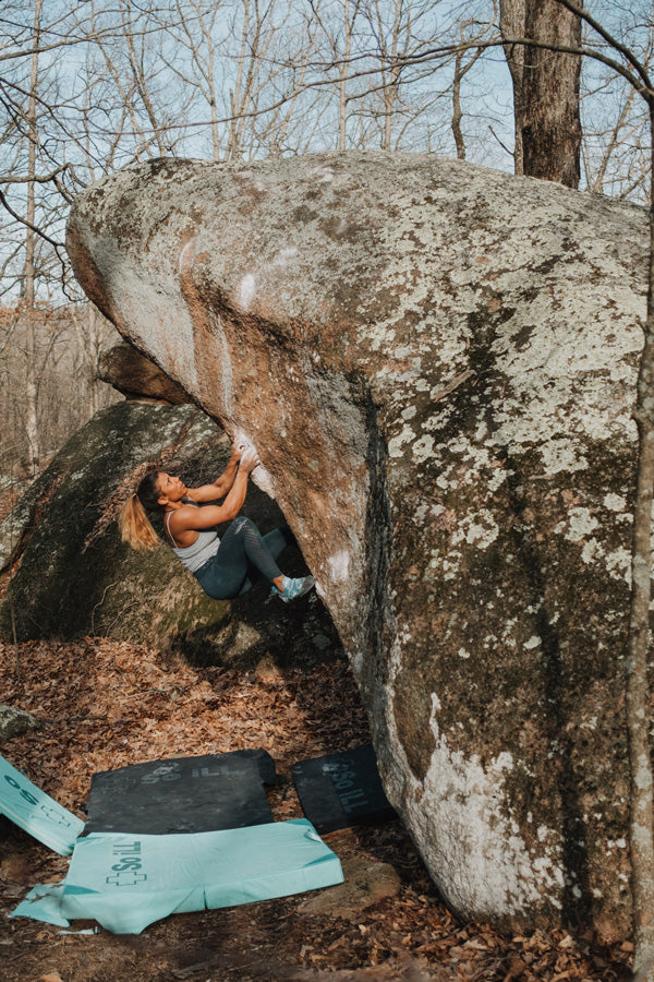 So iLL Free Range Pro being climbed in by So iLL Athlete Meagan Martin