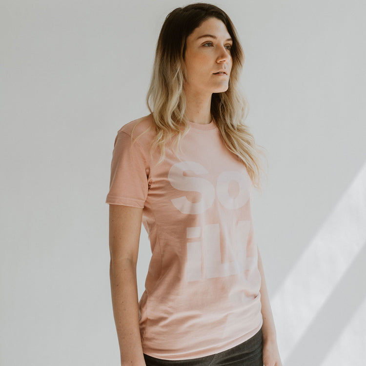 So iLL pink on pink stacked logo tee shirt