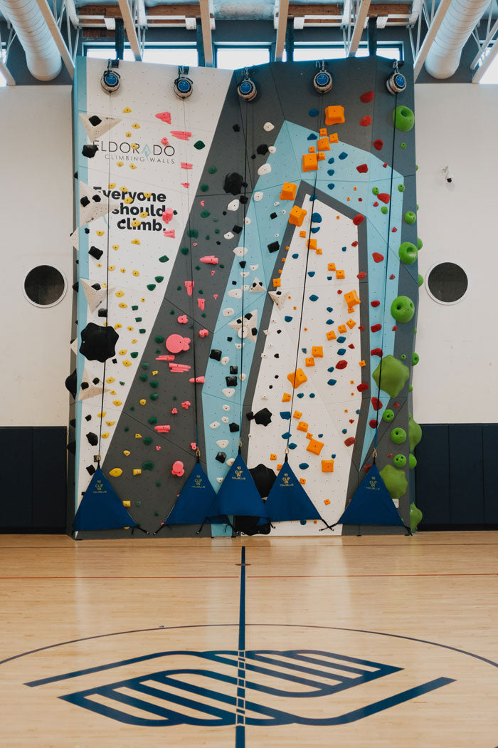 the 1Climb climbing wall at the boys and girls club in la variety