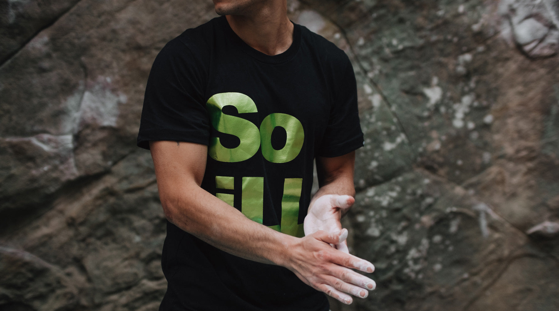 So iLL Stacked Logo Green Foil Tee