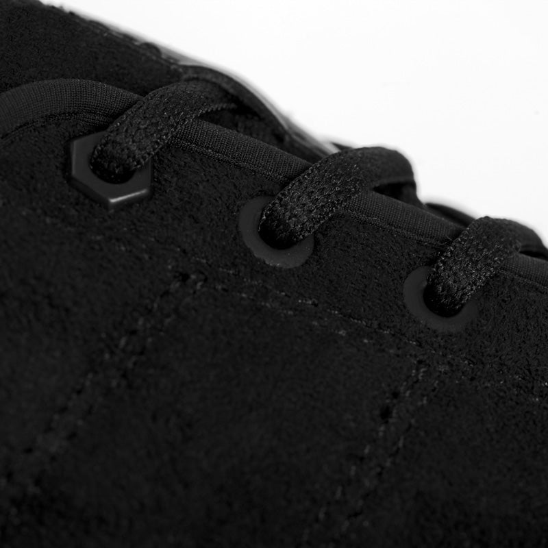 Up close image of So iLL setter shoe vegan suede upper