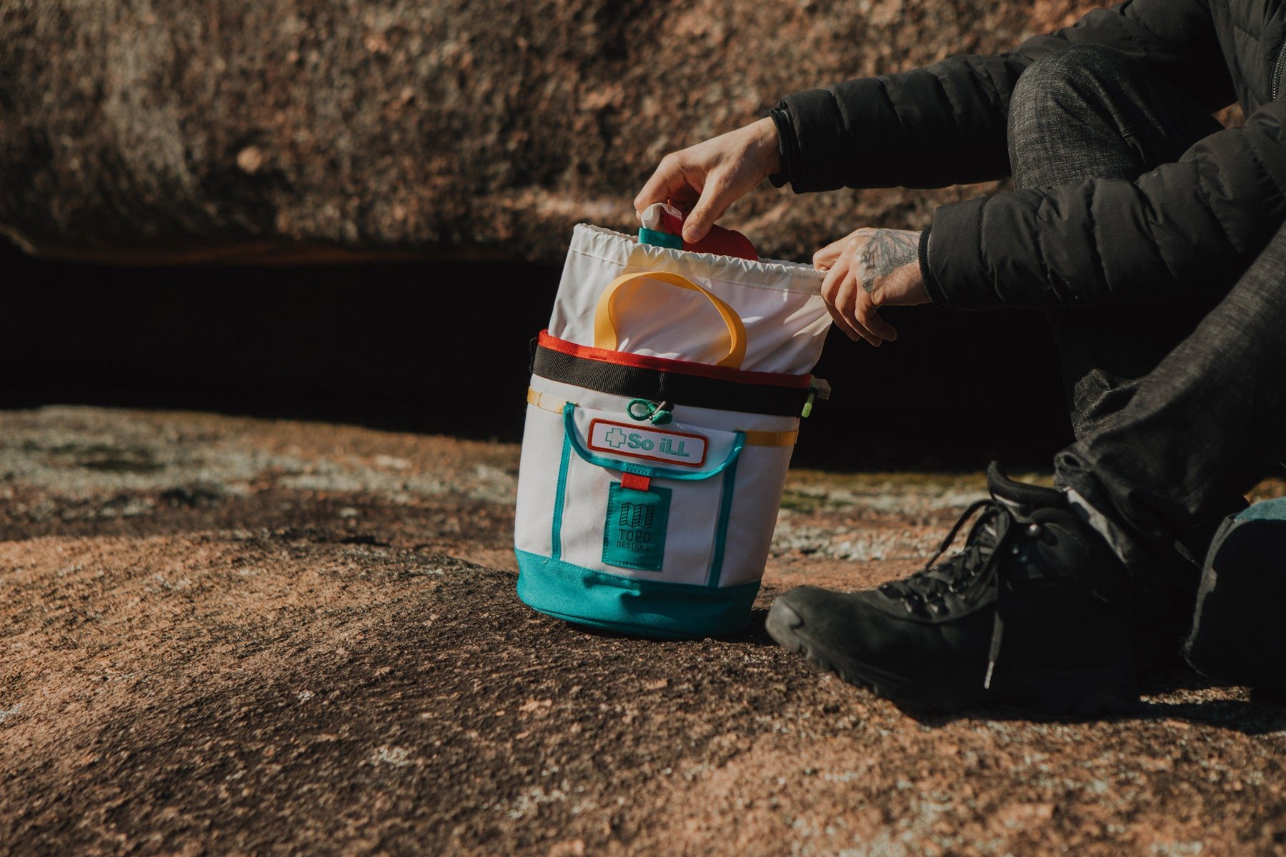 the topo x so ill chalk bucket is featured at elephant rocks