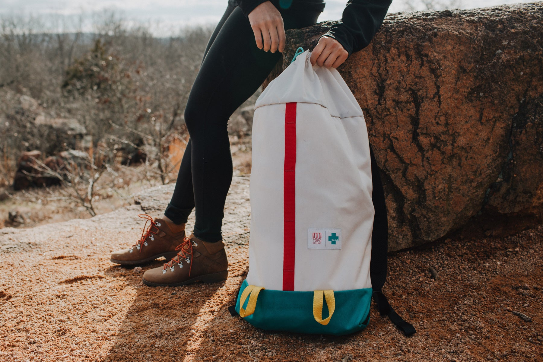 the topo x so ill cosmos bag is featured at elephant rocks