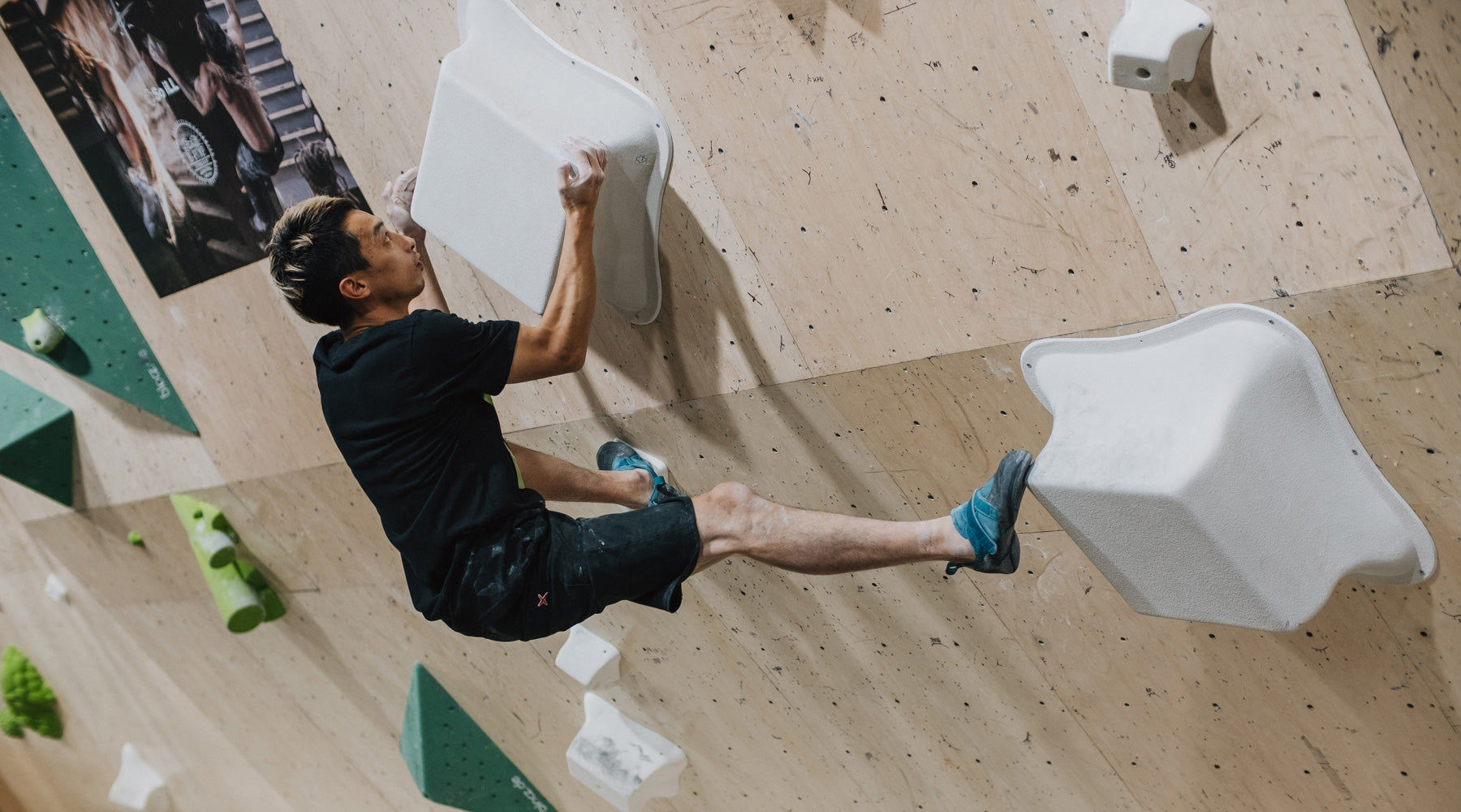 so ill athlete toshi takeuchi climbs on the So iLL Wrecktangle Volumes