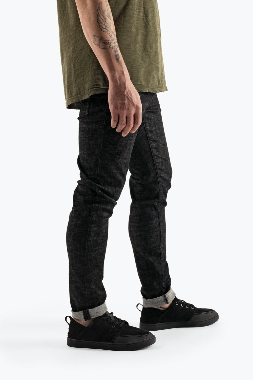 So iLL mens denim climbing jeans pants Black