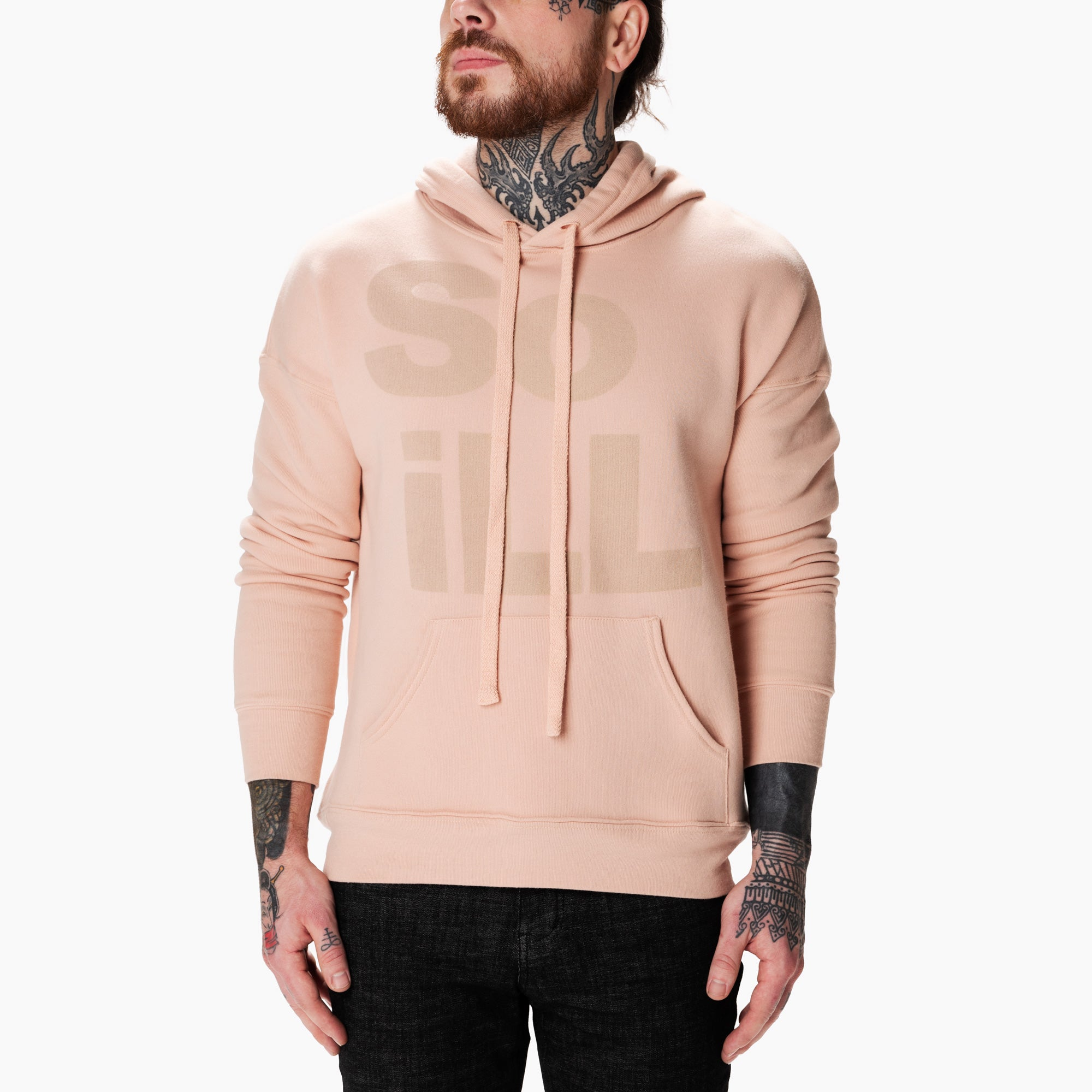 Dirty Pink So iLL Stacked Logo Hoodie