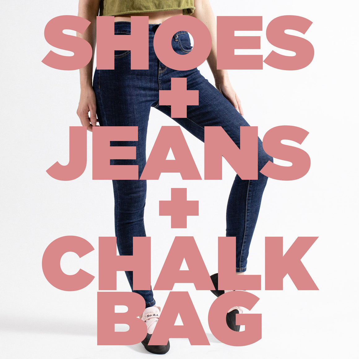 Shoes + Denim + Chalk Bag