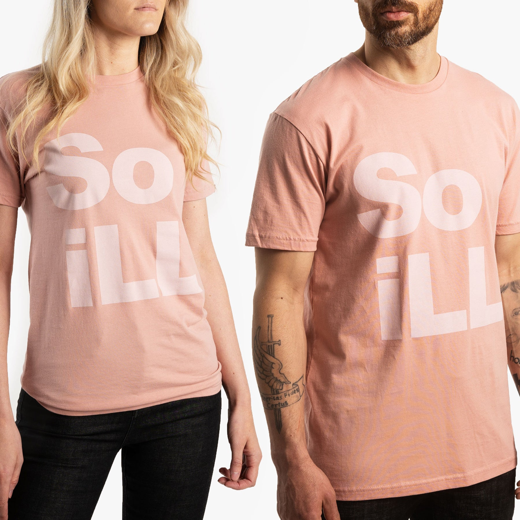 Dirty Pink So iLL Stacked Logo Tee