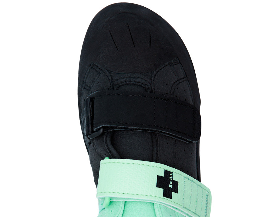 So iLL street lv in teal and black Climbing Shoe top product shot
