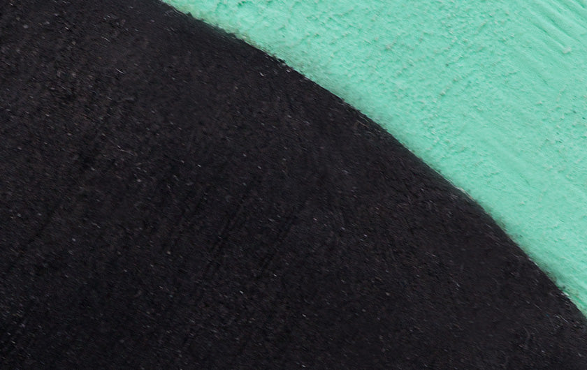 So iLL street lv in teal and black Climbing Shoe close up of rubber