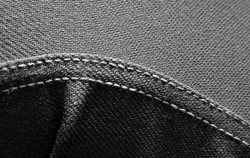 macro shot grey So iLL active jeans