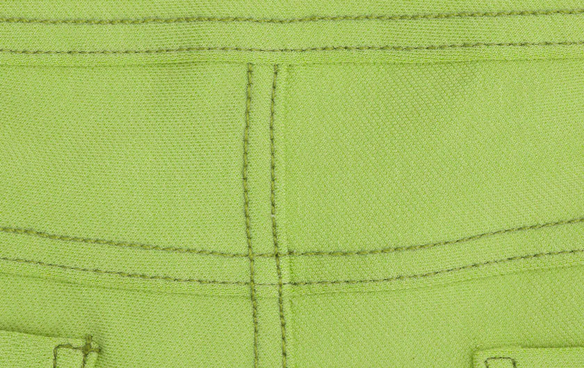 macro shot green So iLL active jeans