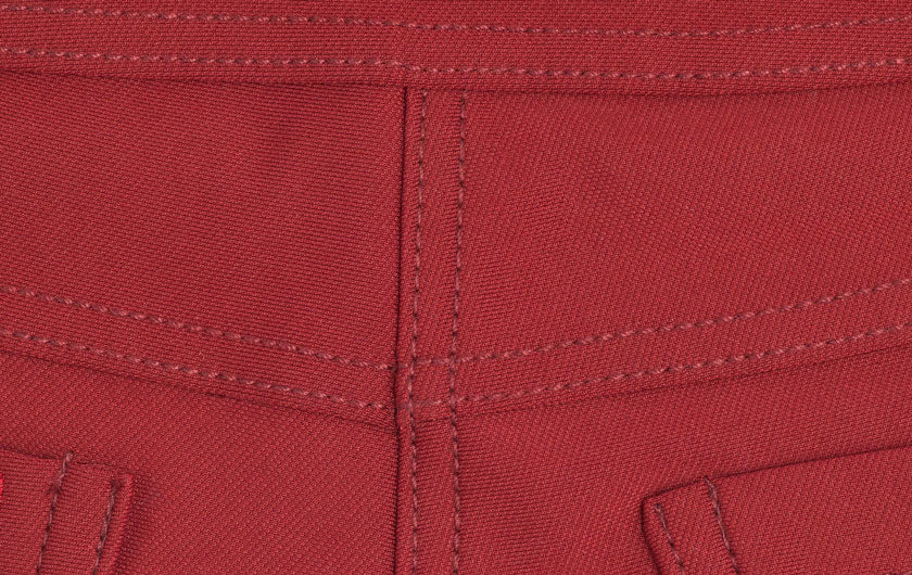 macro shot red So iLL active jeans