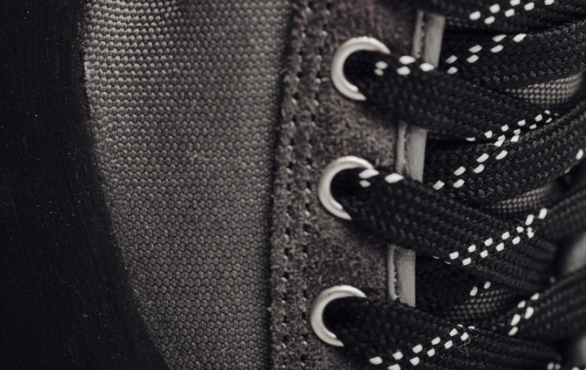 Up close image of So iLL Approach Shoe eye row