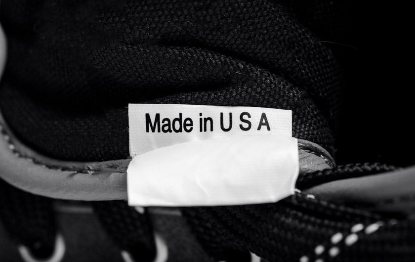 Up close image of So iLL Approach Shoe made in USA tag