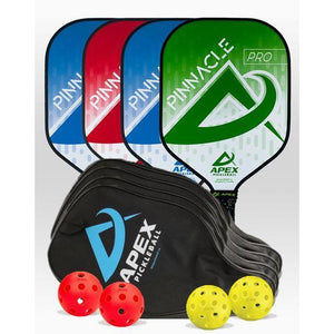 Apex Pinnacle Pro 4 Paddle Package - Pickleball Paddles Canada