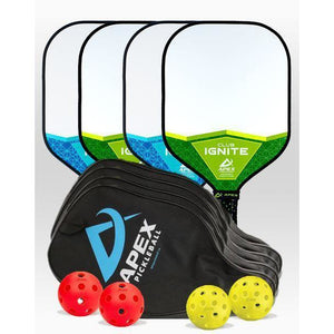 Apex Club Ignite 4 Paddle Package - Pickleball Paddles Canada