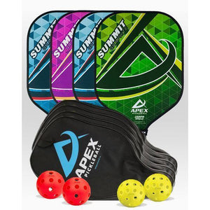 Apex Summit Graphite 4 Paddle Package - Pickleball Paddles Canada