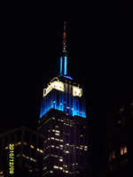 Empire State Building Blue and White