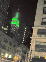 Empire State Building Green
