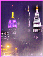 Empire State Building Purple