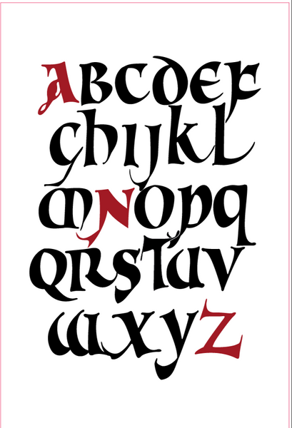 Calligraphy Uncial Old V