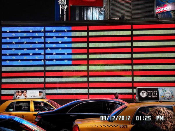 Times Square American Flag