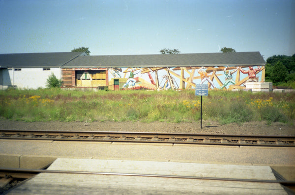 Wall Art Beside Train Tracks