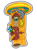 Pre-Columbian God 3 Sticker
