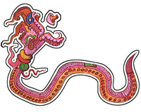 Pre-Columbian Serpent Sticker